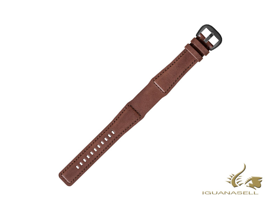 Dietrich Tailored brown Strap, Leather, 22mm, Buckle, Stainless Steel, PVD Dietrich Strap