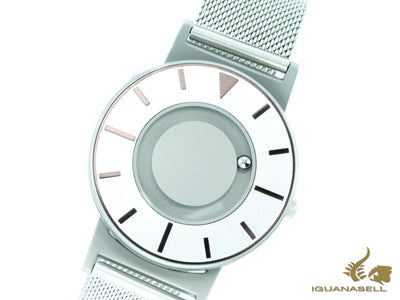 Eone Bradley Compass Iris Quartz Watch, 40 mm, White, Mesh strap, BR-COM-IRIS2 Eone Quartz Watch