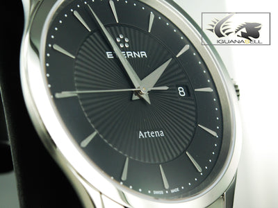 Eterna Artena Gent Date Quartz watch, ETA 955.412, 40 mm, 3 atm, 2520.41.41.1258