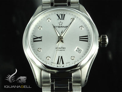 Eterna Lady KonTiki Automatic Watch, SW 200-1, 36,4mm, Diamonds, 1260.41.16.1731