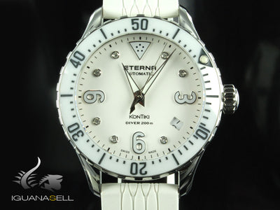 Eterna Lady KonTiki Diver Automatic Watch, SW 200-1, Ceramic, 38mm, Special Ed
