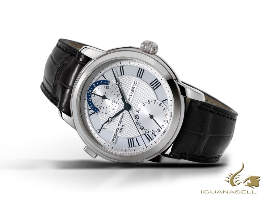 Frederique Constant Hybrid Manufacture Watch, polished stainless, FC-750, Silver