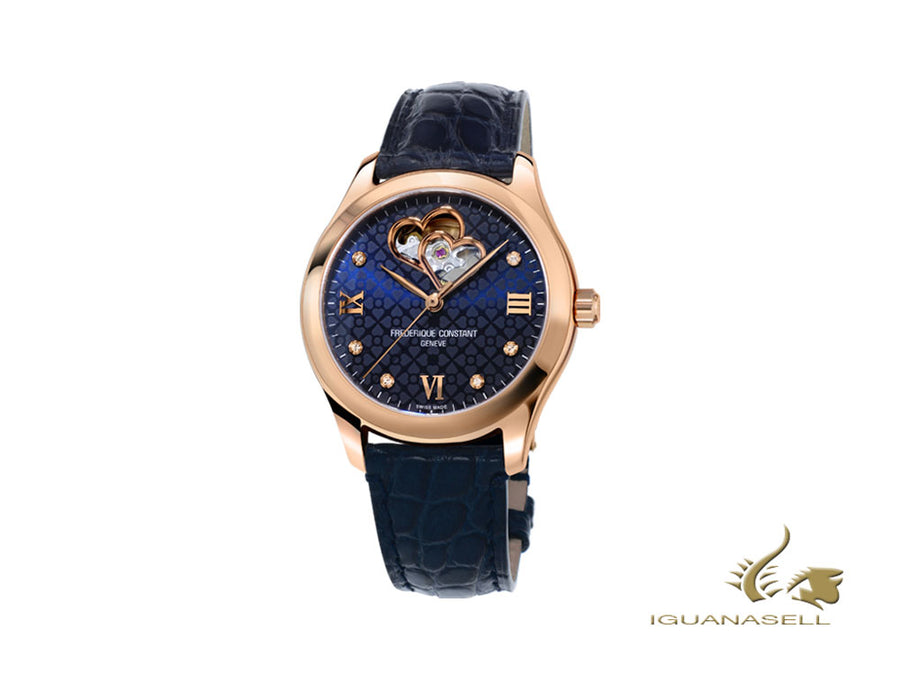 Frederique Constant Ladies Automatic Watch, FC-310, PVD Gold, 36mm, Diamonds