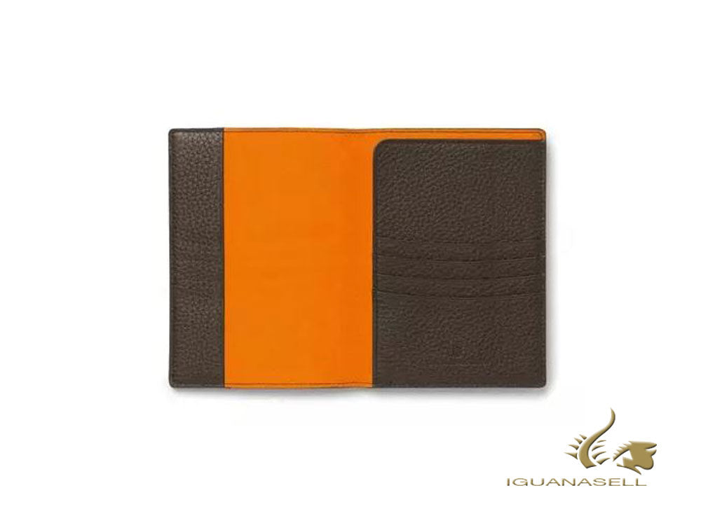 Graf von Faber-Castell Cashmere Passport case, Leather, Brown, 4 Cards, 118707