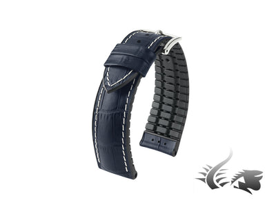 Hirsch George Performance Collection Strap, Blue, 24 mm, 0925128080-2-24
