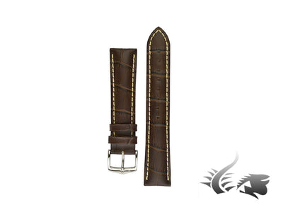 Hirsch Modena Exotic embossed leather Strap, Brown, 24 mm, 10302810-2-24