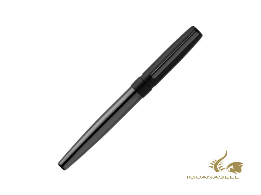 Hugo Boss Halo Fountain Pen, Brass, Gun metal, Black, HSR0892D Hugo Boss Fountain Pen