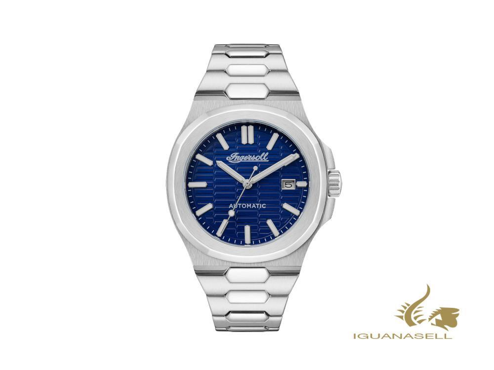 Ingersoll Catalina Automatic Watch, Stainless Steel 316L, 44 mm, Blue, I11801