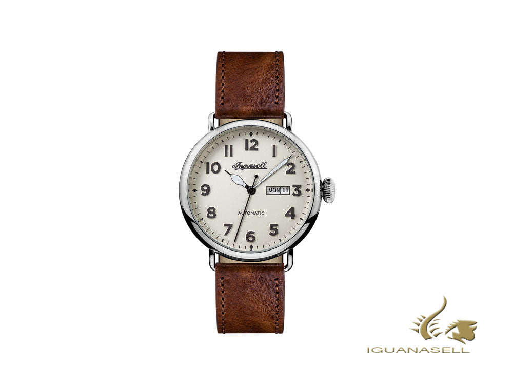 Ingersoll Trenton Automatic Watch, Automatic, Beige, Leather, Date, I03402