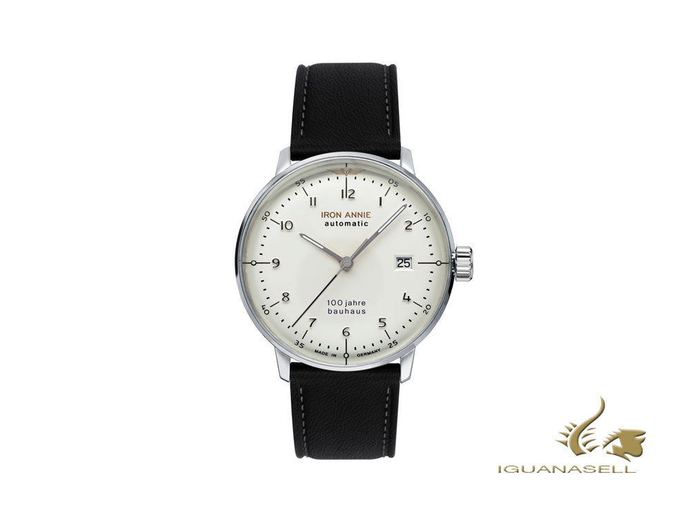Iron Annie Bauhaus Automatic Watch, White, 40 mm, Day, 5056-1