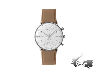 Junghans Max Bill Chronoscope Automatic Watch, J880.2, 40mm, Silver, 027/4502.00