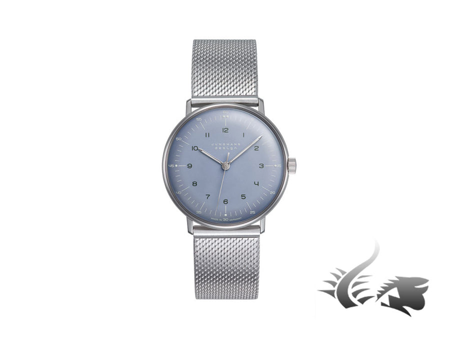 Junghans Max Bill Handaufzug, Manual winding, J805.1, 34mm, Blue, 027/3600.44