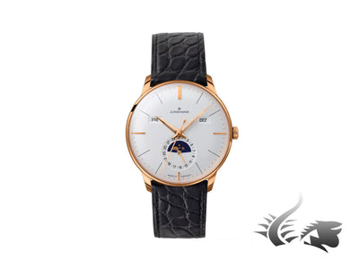 Junghans Meister Kalender Automatic Watch, J800.3, Moonphase, Cayman 027/7203.00