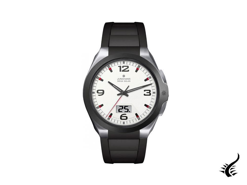 Junghans Performance Spektrum Mega Solar Watch, White, 41,6mm, Day, 018/1424.00
