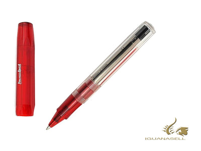 Kaweco ICE Sport Rollerball pen, Resin, Transparent, Red, Octagonal, 10000085