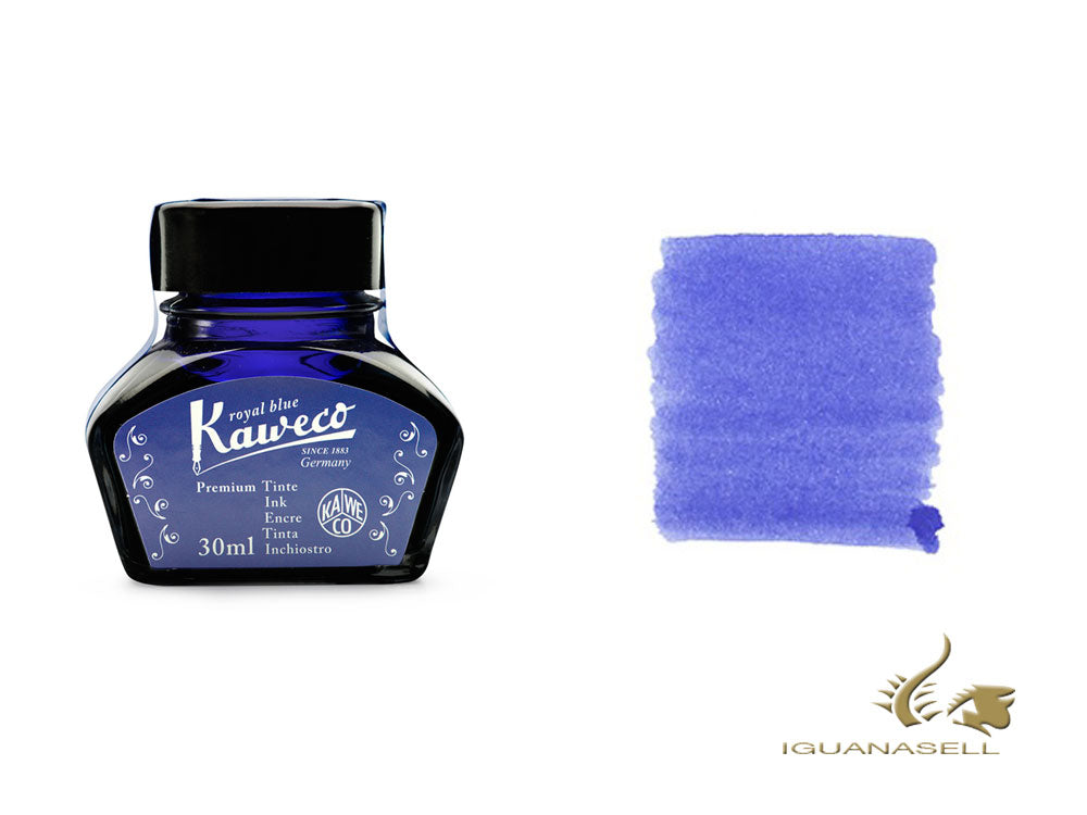 Kaweco Royal Blue Ink Bottle, 30ml., Blue, Crystal