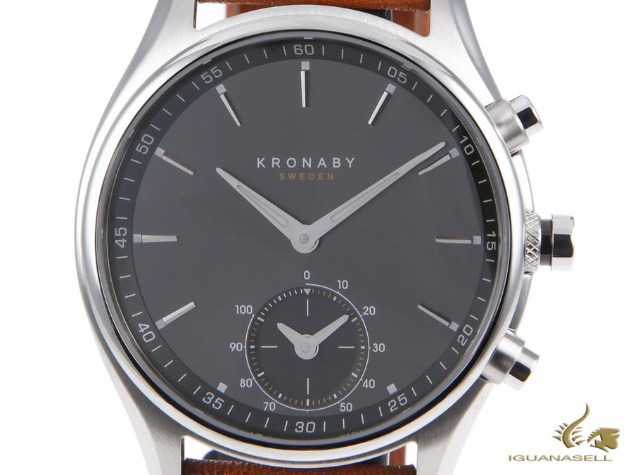 Kronaby Sekel Quartz Watch, Grey, 43mm, 10 atm, A1000-0719