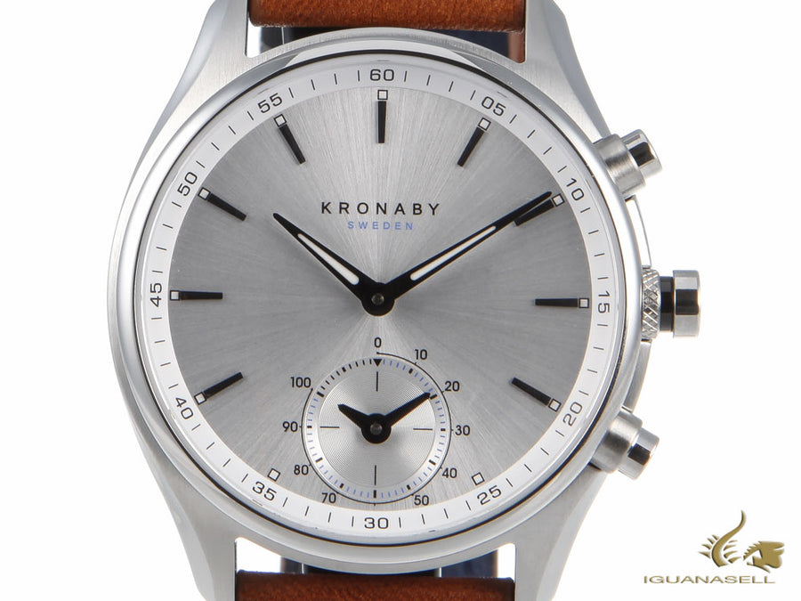 Kronaby Sekel Quartz Watch, Silver, 43mm, 10 atm, A1000-0713