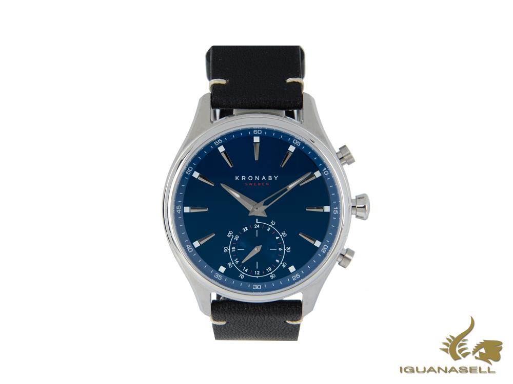 Kronaby Sekel Quartz Watch, Steel, Blue, 41 mm, 10 atm, A1000-3120-3882