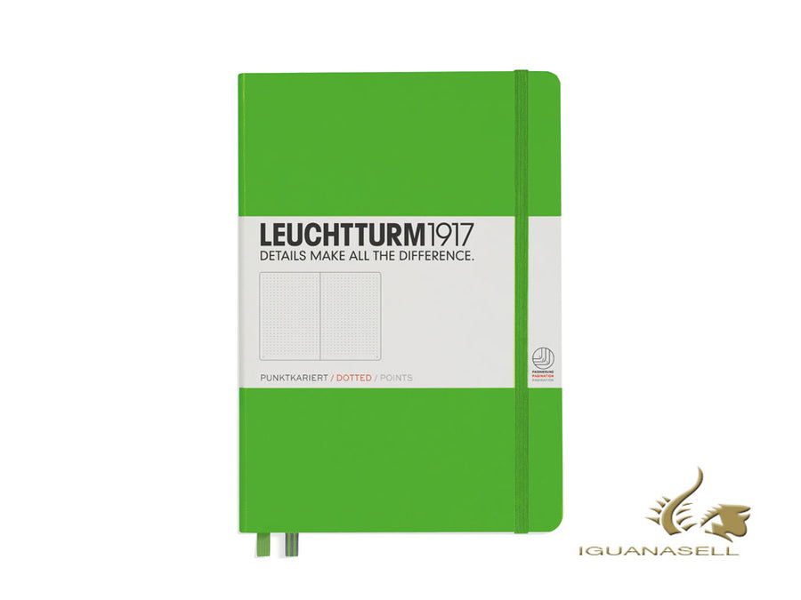 Leuchtturm1917 Hard cover Notebook, A5, Dotted, Fresh Green, 249 pages, 357490 Leuchtturm1917 Notebook
