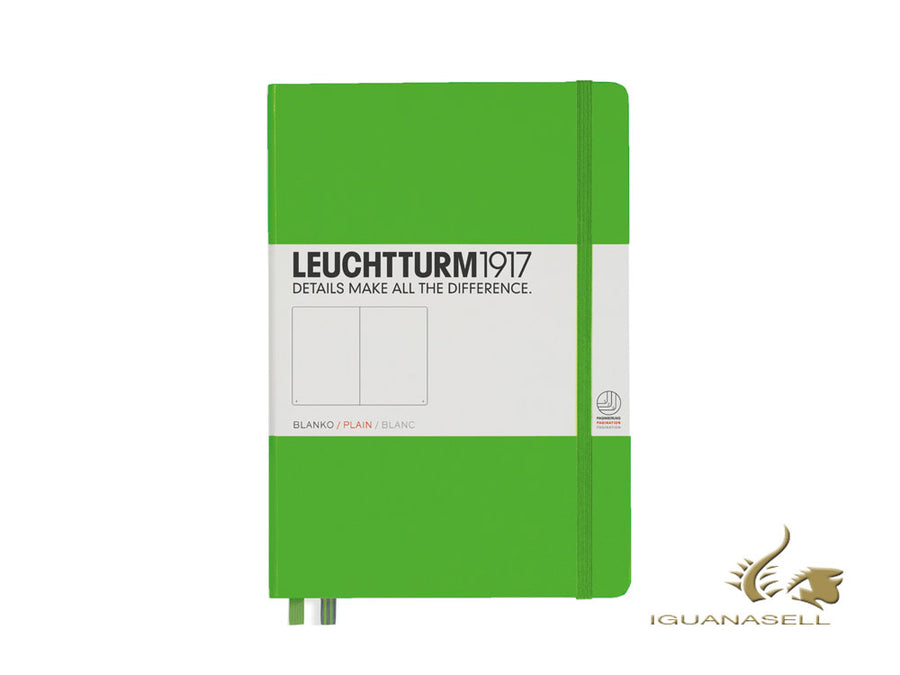 Leuchtturm1917 Hard cover Notebook, A5, Plain, Fresh Green, 249 pages, 357491 Leuchtturm1917 Notebook
