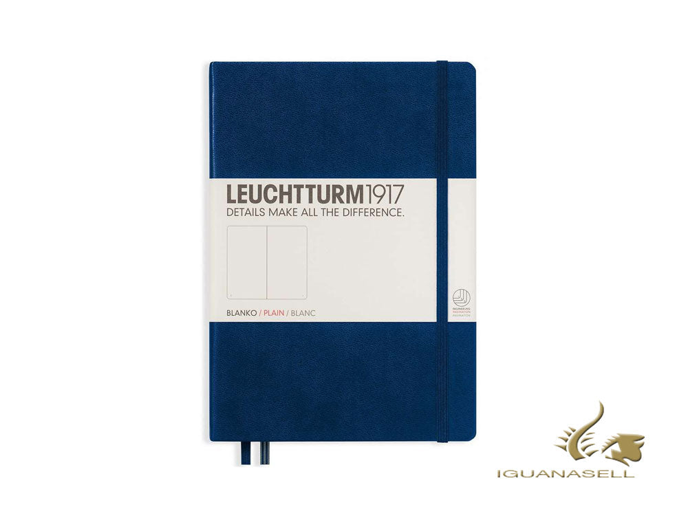 Leuchtturm1917 Hard cover Notebook, A5, Plain, Navy Blue, 249 pages, 342924