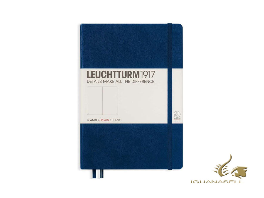 Leuchtturm1917 Hard cover Notebook, A5, Plain, Navy Blue, 249 pages, 342924 Leuchtturm1917 Notebook