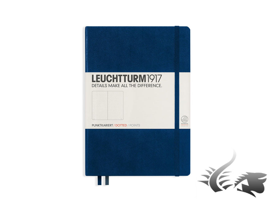 Leuchtturm1917 Hardcover Notebook, Medium (A5), Dotted, Navy Blue, 249 pages Leuchtturm1917 Notebook