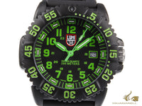 Luminox Navy Seal Colormark Quartz Watch, Carbon, Black/Green, XS.3067