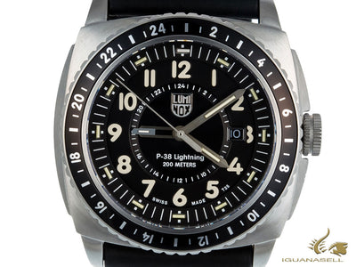 Luminox P-38 Lightning Quartz Watch, Stainless Steel 316L, GMT, XA.9421