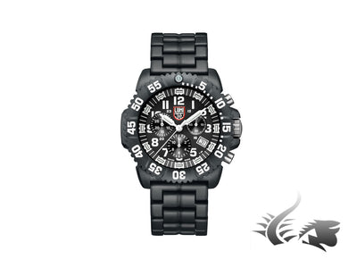 Luminox Sea Navy Seal Chronograph Quartz Watch, Carbon, Black/White, XS.3082