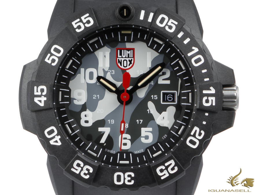 Luminox Sea Navy SealQuartz Watch, Grey, Carbon, 45mm, 20 atm, XS.3507.PH
