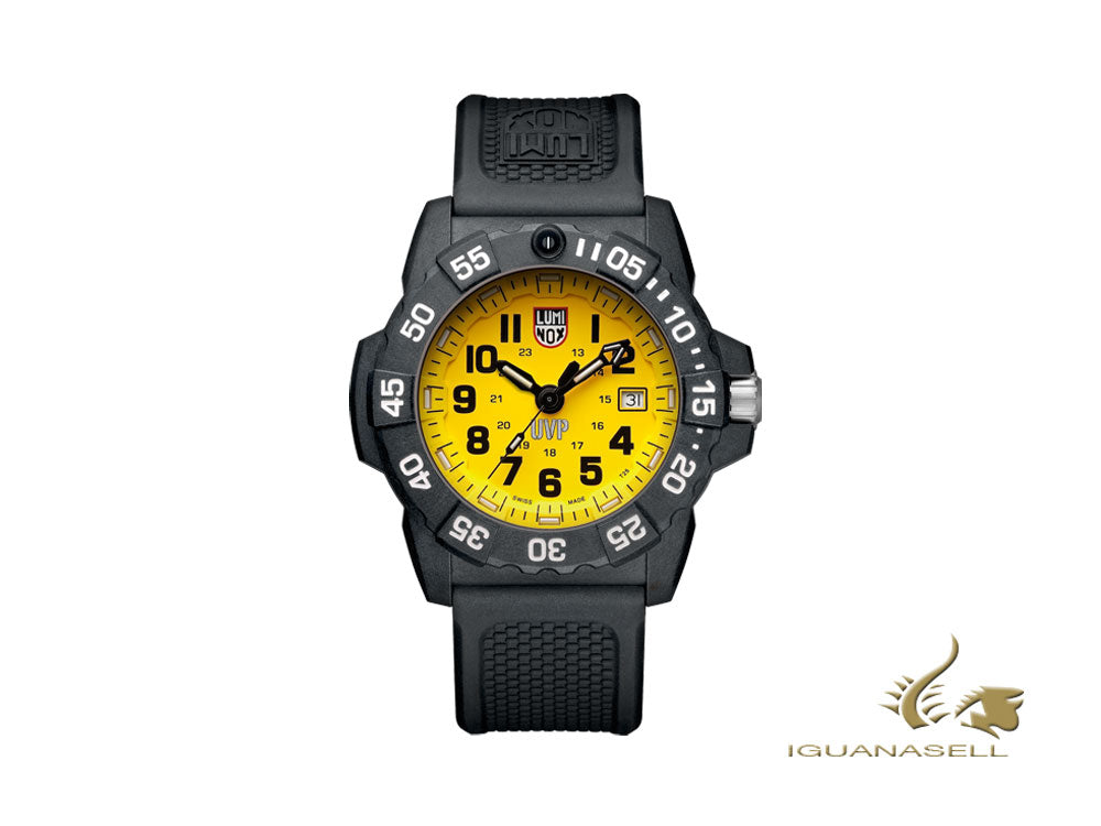 Luminox Sea Scott Cassell Set Quartz Watch, CARBONOX™, Yellow, XS.3505.SC.SET