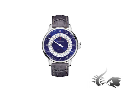 Meistersinger Adhaesio Automatic Watch, Blue, ETA 2893-2, 43mm. AD908-SGF06