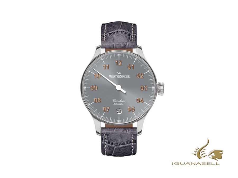 Meistersinger Circularis Automatic Sunburst Medium Grey Watch, 43mm, CC927G-SG06 Meistersinger Automatic Watch