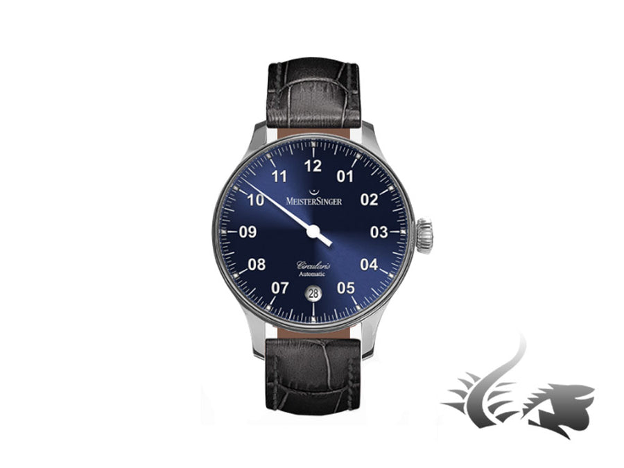 Meistersinger Circularis Automatic Watch, MSA01, Suburst Blue, 43mm, Black strap Meistersinger Automatic Watch