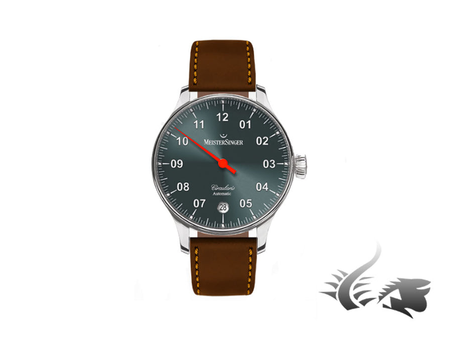 Meistersinger Circularis Automatic Watch, MSA01, Sunburst Anthracite, Incablock Meistersinger Automatic Watch