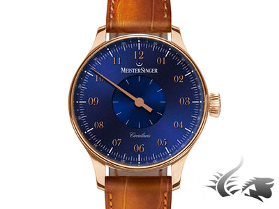 Meistersinger Circularis Watch, Manual, Blue, MSH01, 43mm., Limited Edition
