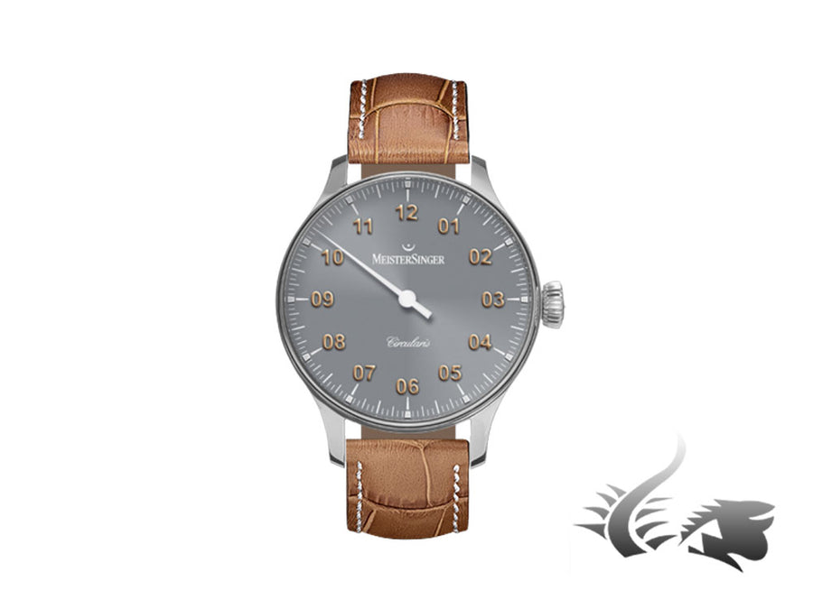 Meistersinger Circularis Watch, Manual winding, MSH01, 43mm, Grey, CC307-SG03W Meistersinger Automatic Watch
