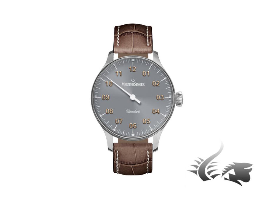 Meistersinger Circularis Watch, Manual winding, MSH01, 43mm, Grey,  CC307-SG02W Meistersinger Automatic Watch