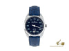 Meistersinger Metris Automatic Watch, 38mm, Blue, Leather strap, ME908-SG04