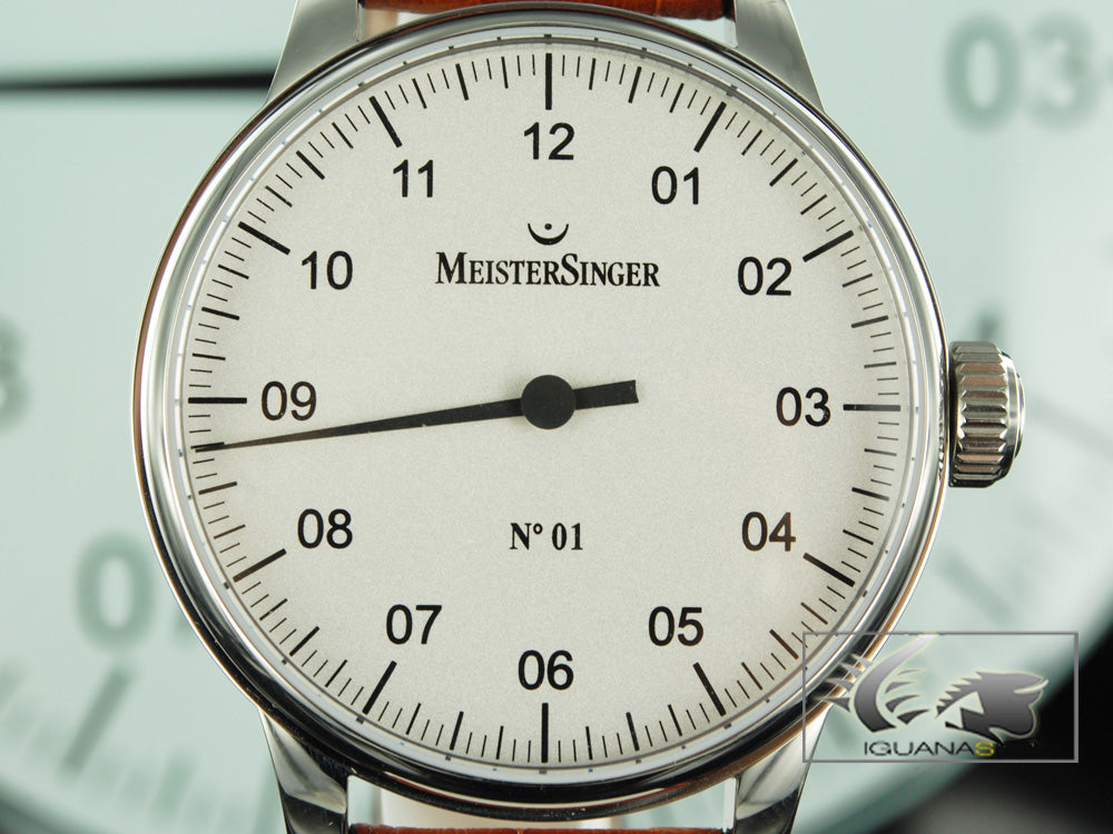 Meistersinger N1 Watch, Manual winding, Stainless steel, ETA 2801-2, AM3301