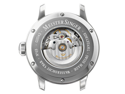 Meistersinger N3 Automatic Watch, ETA 2824-2, 43mm. Leather strap, AM908-SG02