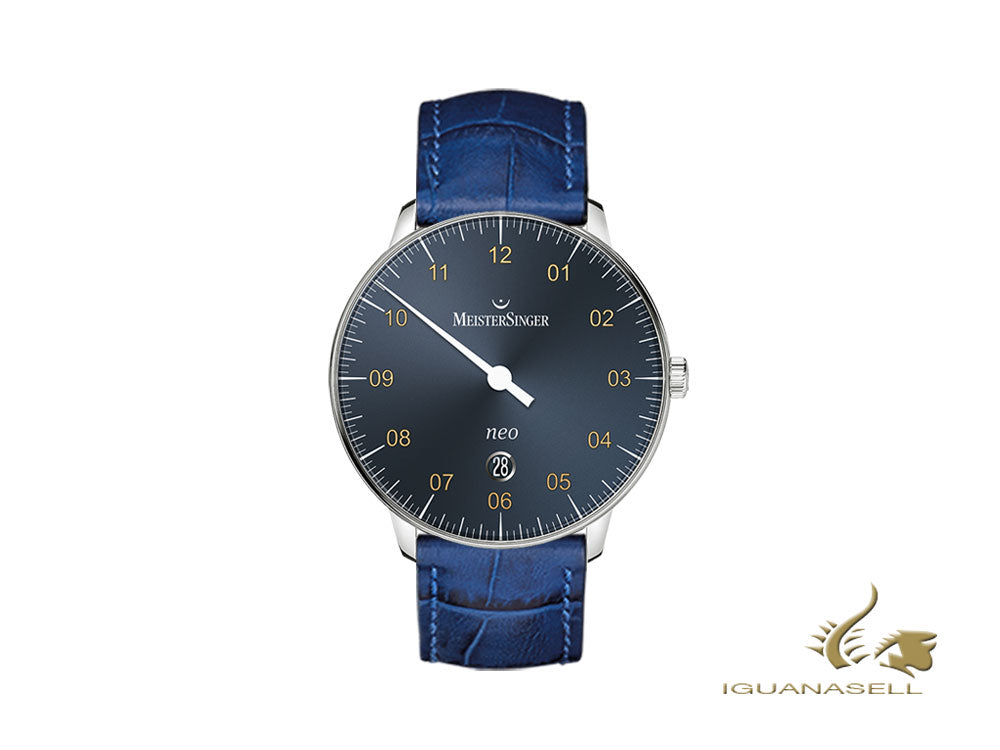 Meistersinger Neo Plus Automatic Watch, ETA 2824-2, 40mm, Blue, Day, NE417G-SG04
