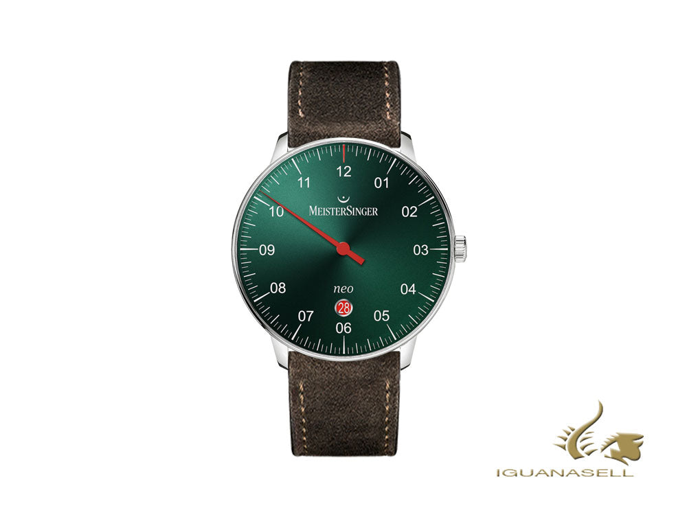 Meistersinger Neo Plus Automatic Watch, ETA 2824-2, 40mm, Green/brown, 40mm