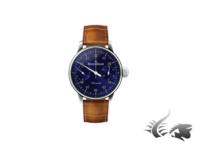 Meistersinger Paleograph Watch, Manual winding, Ivory, MSYN13, Chronograph