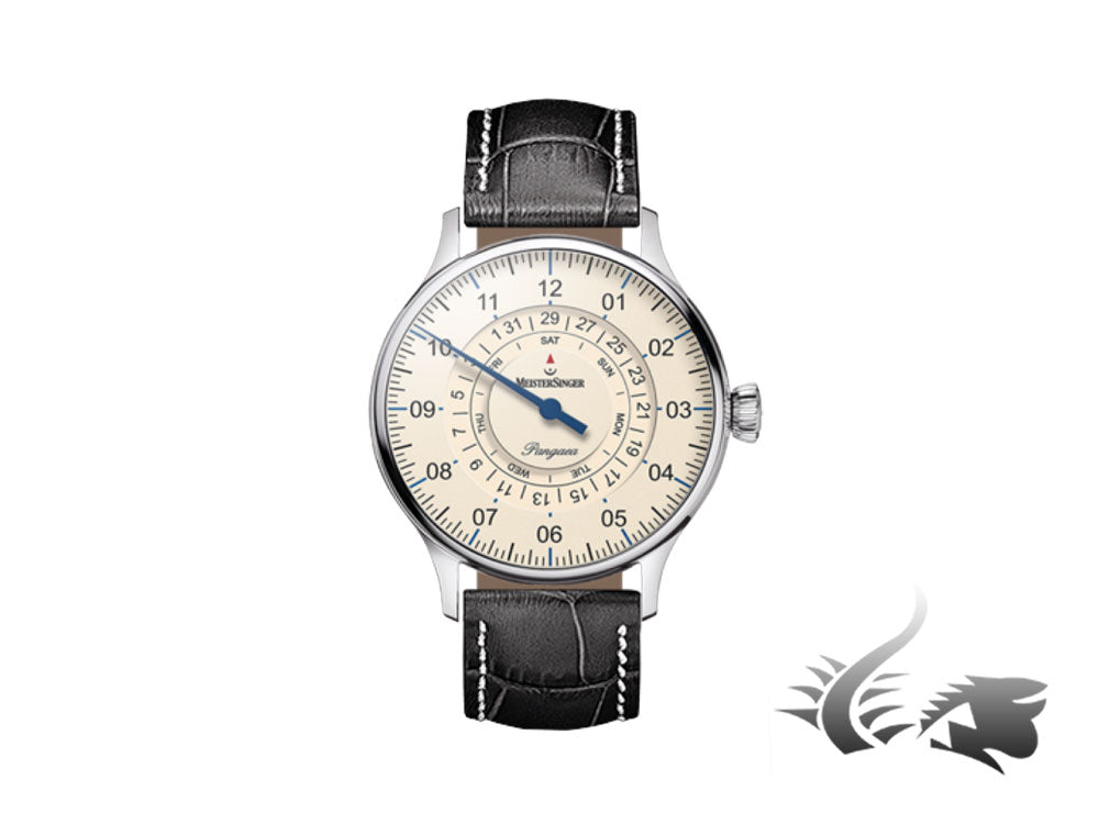 Meistersinger Pangaea Day Date Automatic Watch, 40mm, Ivory, PDD903-SG01W