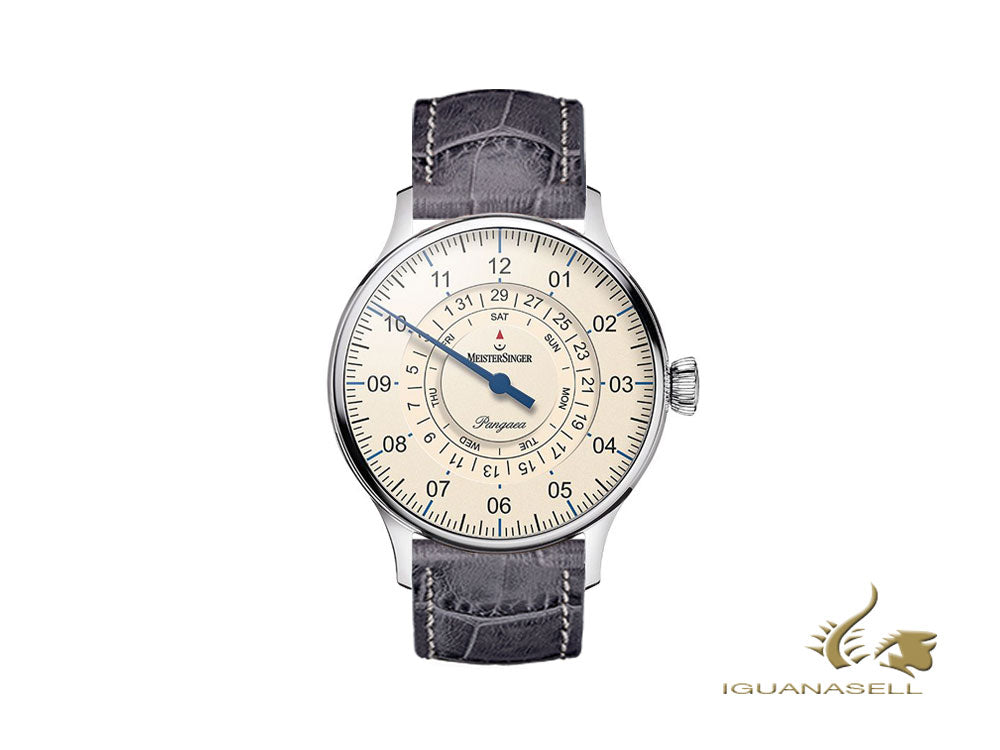 Meistersinger Pangaea Day Date Automatic Watch, 40mm, Ivory, PDD903-SG06