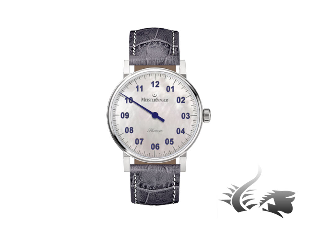 Meistersinger Phanero Watch, Manual winding, Mother of pearl, PHM1B-SG16W