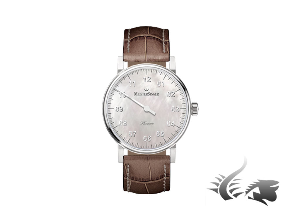 Meistersinger Phanero Watch, Manual winding, Mother of pearl, PHM1C-SG12